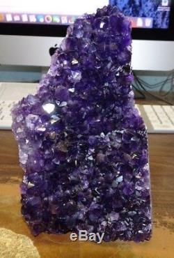 Uruguayen Améthyste Cristal Cluster Geode De La Cathédrale Uruguay