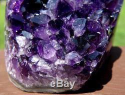 Uruguayen Améthyste Cristal Cluster Side Poli Avec Cut Base Uruguay
