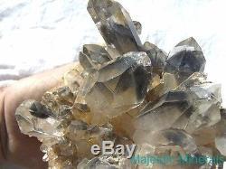 World Class Huge Museum Grade Arkansas Quartz Crystal Blue Phantom Cluster
